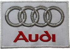 "Audi Motorsport Racing Logo Embroided 3.5"" Patch Badge Wide Iron or Sew on"