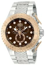 New Mens Invicta 12940 Pro Diver Chronograph Brown Steel Bracelet Watch