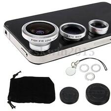 3 in1 Fish Eye + Wide Angle + Macro Camera Len w/ Chain for Universal Cell Phone