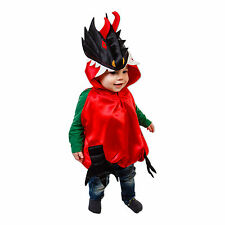 Luxury Baby Toddler Dragon Fancy Dress Costume Outfit - Red / Black (0-2 years)