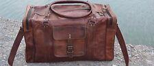 "24""Men's Genuine Leather Large Vintage Duffle Travel Gym Weekend Overnight Bag@"