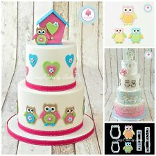 FMM Mummy and Baby Owl Cutter Cake Decorating Set Free 1st Class 1 Day Dispatch