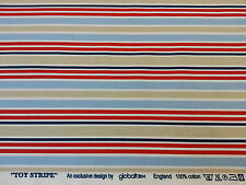 TOYSTRIPE - By Globaltex 100% Cotton Nautical Stripe Fabric- Selling per metre