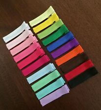 40 Single Prong Grosgrain Ribbon Lined Alligator Hair Clips for Flowers or Bows
