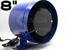 "8"" Inline Duct Fan w/ Speed Controller 8 Inch Exhaust Blower"