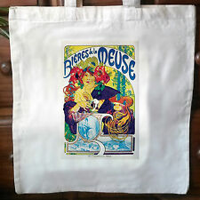 Vintage French advert retro cotton cream tote bag No4
