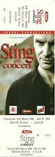 RARE / TICKET DE CONCERT - STING ( THE POLICE ) LIVE LILLE MARS 1996 /COMME NEUF