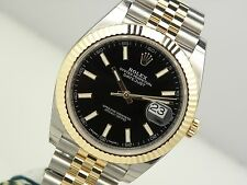 Rolex DATEJUST II 126333 Mens Steel & Yellow Gold Jubilee Bracelet Black 41MM
