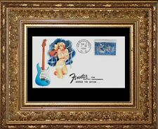 1960 Fender Stratocaster & Pin Up Girl Featured on Collector's Envelope *Z346