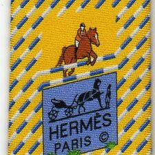 RARE HERMES White Blue Equestrian Cross Bar Yellow Striped Tie 645737 PA NEW BOX