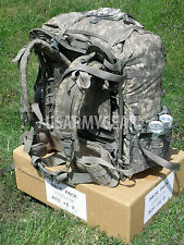 Loaded US Army ACU Ruck Sack Back Pack Frame Belt Straps Hydration + 10 Pouch GI