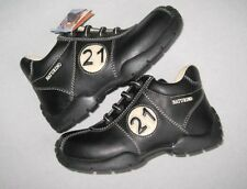 NWT Naturino Sport Toddler Boys 9.5-10 US Black Tan Leather Ankle Boots Euro 26