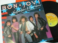 "BON JOVI YOU GIVE LOVE A BAD NAME (1980s POP ROCK) VINYL 12"" SINGLE 45RPM"