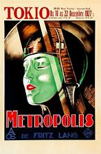 Metropolis Vintage Movie Poster Lithograph Fritz Lang Hand Pulled S2 Art Ltd Ed