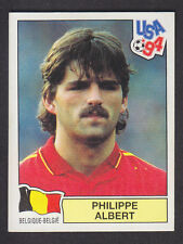 Panini - USA 94 World Cup - # 381 Philippe Albert - Belgique (Black Back)
