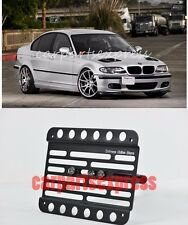 For 99-06 BMW E46 3-Series Front Tow Hook License Plate Relocated Bracket Holder