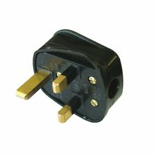 5 XNEW UK FUSED STANDARD 13AMP 13A BLACK 3 PIN MAINS HOUSEHOLD PLUG FAST POSTAGE