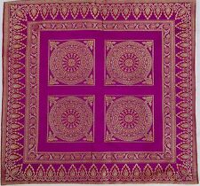 MOTIFS INDIENS HOUSSE DE COUSSIN ETHNIQUE DU RAJASTHAN BRODEE TAIE INDE