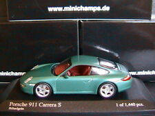 PORSCHE 911 997 CARRERA S BILLARDGRUN 2004 MINICHAMPS 400063022 1/43 GREEN METAL