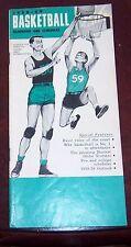 Basketball Handbook and Schedules 1958-59 Wilt chamberlain / Bill Russell