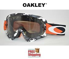 OAKLEY® O-FRAME® GOGGLES MX ATV MOTOCROSS MOTORCYCLE DIRT BLACK WHITE CAMO TINT