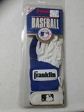 Franklin Leather Batting Glove New Old Stock Right Hand Youth Small Blue White
