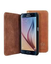 Bugatti bookcover oslo cognac cuero bolso funda protectora para el Samsung Galaxy s6