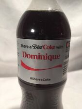 2015 Share a Diet COKE with DOMINIQUE Collectible 20 Oz Bottle Coca-Cola Name