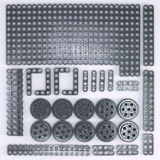 Lego Technic Dark Stone Grey Studless Beam Liftarm Brick Wheel - 84 Parts - NEW
