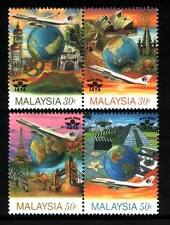 "1995 MALAYSIA 50 YEARS OF IATA ""INTERNATIONAL AIR TRANSPORT ASSOCIATION""(4v) MNH"