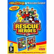 Fisher price rescue Heroes CD-ROM PC / MAC twin set lave glissement de terrain, sélectionnez mission
