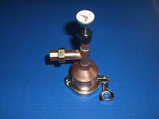 "Moonshine Beer Keg Still Kit  2"" x 1/2 Copper, Tri Clamp, Gasket, thermometer!!!"