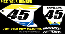 Husqvarna TC 50 2017 Pre Printed Number plate Backgrounds FAST GUY W/AIRBOX