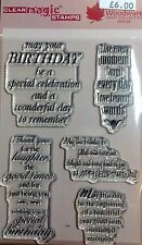 Woodware Clear Magic Delightful Verses stamp set JGCL575