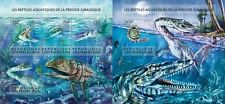 Z08 CA15404ab Central Africa 2015 Prehistoric water animals MNH SET
