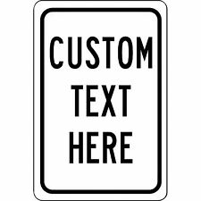 "New Personalized 8"" x 12"" Aluminum Metal Sign Customized With Your Custom Text"
