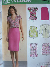 UNCUT NEW LOOK TOPS BLOUSES & SKIRTS SEWING DRESSMAKING PATTERN