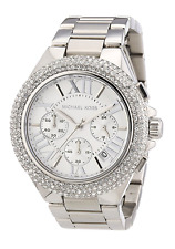 New Michael Kors Camille Silver Chronograph Crystal MK5634 Wrist Watch for Women