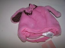 NWT GYMBOREE POLKA DOT PUPPY PINK FAUX FUR DOG WINTER HAT 3-6 MO   Free Shipping