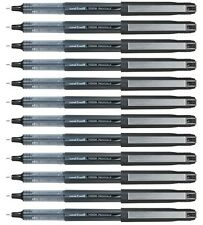 Uni-Ball Vision Eye UB-185 Needle Rollerball Pen Black FINE 0.5mm PACK of 12