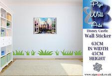 Kids Bedroom Disney Castle 3D Effect window wall sticker