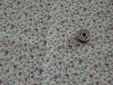 Cotton Fabric Floral Print (1/4Yrd) Tiny Floral print. Green Vines brown flowers