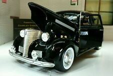 G LGB 1:24 Scale 1939 Chevrolet Coupe Black Diecast Detailed Motormax Model Car
