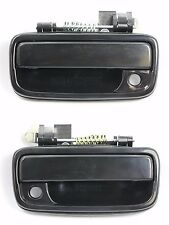 PAIR FRONT Outside Door Handle SMOOTH BLACK for 95-04 Toyota Tacoma Pickup