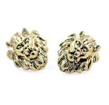 Vintage retro punk style lion stud earrings biker punk goth