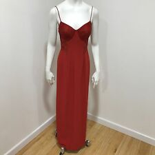 DUSK Red Strappy Long Maxi Dress Lace Beaded Occasion Prom Party Size UK 8 44192
