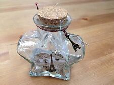 New Origami Star Shaped Jar Glass Favor Bottle with Cork- 6""