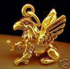 LOOK Gold Plated Griffin Eagle Lion 3D pendant Charm Jewelry