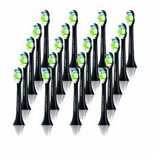 20x Electric Black Toothbrush Heads For Philips Sonicare HX9332/04 Diamond Clean