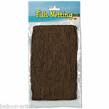 12ft x 4ft Tropical Pirate Luau Party Decorative BROWN Fish Fishing Net Netting